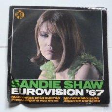 Disques de vinyle: SANDIE SHAW,PUPPET ON A STRING(MARIONETAS EN LA CUERDA)DEL 67. Lote 56740910