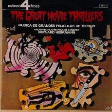 Discos de vinilo: BERNARD HERRMANN -THE GREAT MOVIE THRILLERS- LP 1972 DECCA SPAIN. Lote 56742065