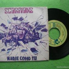 Discos de vinilo: SCORPIONS. SINGLE. NO ONE LIKE YOU. NADIE COMO TU. EMI HARVEST 1982. EDICIÓN ESPAÑOLA. Lote 56746268
