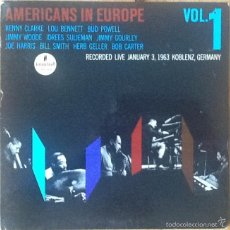 Discos de vinilo: V / A : AMERICANS IN EUROPE VOL.1 [USA 1972] LP/GAT/1ST ED - KENNY CLARKE, BUD POWELL, BILL SMITH. Lote 54933562