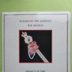 Discos de vinilo: WIM MERTENS - MAXIMIZING THE AUDIENCE - DOBLE LP GRABACIONES ACIDENTALES 1986 - BUEN ESTADO. Lote 56747846