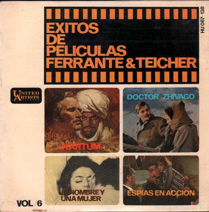EXITOS DE PELICULAS FERRANTE & TEICHER - VOL.6 / EP UNITED ARTISTS RECORDS DE 1966,RF-664 (Música - Discos de Vinilo - EPs - Bandas Sonoras y Actores)