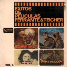 Discos de vinilo: EXITOS DE PELICULAS FERRANTE & TEICHER - VOL.6 / EP UNITED ARTISTS RECORDS DE 1966,RF-664 . Lote 56757015