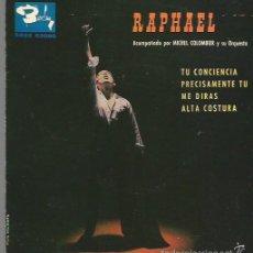 Discos de vinilo: RAPHAEL EP SELLO BARCLAY AÑO 1963 EDITADO EN ESPAÑA . Lote 56758496