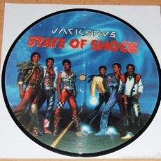 Discos de vinilo: MICHAEL JACKSON JACKSONS STATE OF SHOCK PICTURE DISC SINGLE. Lote 56772112