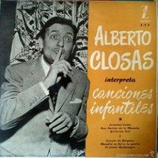 Discos de vinilo: ALBERTO CLOSAS. CANCIONES INFANTILES. CROSTOBAL COLON + 5. ZAFIRO EP + LIBRETO (FIRMADO Y DEDICADO). Lote 56801324