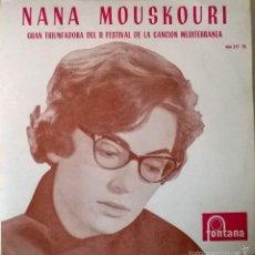 Discos de vinilo: NANA MOUSKOURI. XYPNA AGAPI MOU/ O KARAZIOZIS/ TO TRAGOUDI/ MIA MERA AKOMA. FONTANA, SPAIN 1969 EP. Lote 56802047