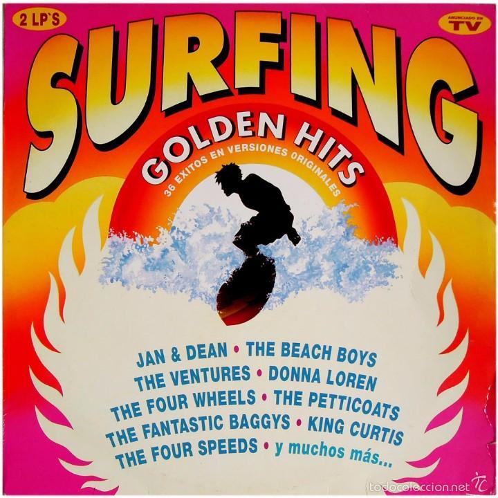VVAA - SURFING GOLDEN HITS - 2 LP COMP. SPAIN 1991 - HISPAVOX 7970281 (Música - Discos - LP Vinilo - Pop - Rock Internacional de los 50 y 60)