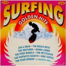 Discos de vinilo: VVAA - SURFING GOLDEN HITS - 2 LP COMP. SPAIN 1991 - HISPAVOX 7970281. Lote 56807550