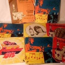 Discos de vinilo: ANTIGUO LOTE COLECCION DE 8 DISCOS DISCO SINGLE SORPRESA PUBLICIDAD SOBERANO COCHE SEAT 600. Lote 56826085