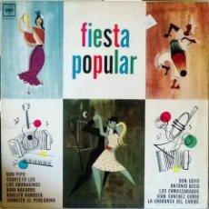 Discos de vinilo: VVAA ENMASCARADOS/ CHARANGA DEL CARIBE/ DON PIPO. FIESTA POPULAR. CBS 1112 (MONOAURAL), ARGENTINA LP. Lote 56843245