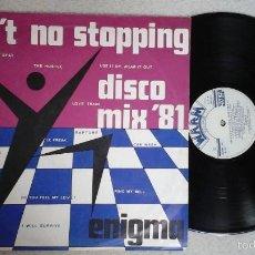 Discos de vinilo: ENIGMA ?– AIN'T NO STOPPING DISCO MIX '81 LP WARM RECORDS ?– 12 AWMR 1001. Lote 56854230