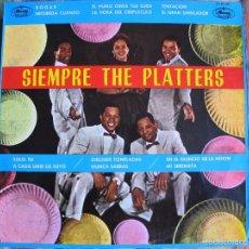 Discos de vinilo: LP - THE PLATTERS - SIEMPRE THE PLATTERS (SPAIN, MERCURY RECORDS 1981). Lote 56855935