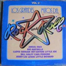 Discos de vinilo: LP - LOS GRANDES MITOS DEL ROCK AND ROLL VOL. 2 - VARIOS (SPAIN, DISCOS MERCURIO 1982). Lote 56856468