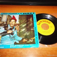 Discos de vinilo: SARDANAS A DALI GALA / DALINIANA / PORT-LLIGAT EP VINILO DEL AÑO 1964 SANDIEGO CONTIENE 4 TEMAS. Lote 56856509