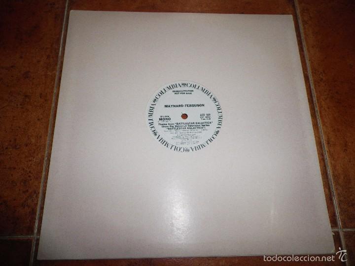 MAYNARD FERGUSON THEME FROM BATTLESTAR GALACTICA MAXI SINGLE VINILO PROMO USA 1978 2 TEMAS (Música - Discos de Vinilo - Maxi Singles - Pop - Rock Extranjero de los 70)