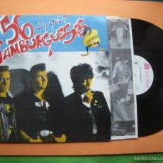 Discos de vinilo: 56 HAMBURGUESAS ¿ Y QUE ? R@RE SPANISH NEO ROCKABILLY LP SPAIN 1990 CON ENCARTES. Lote 56857778