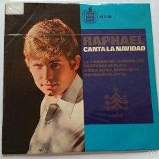 Discos de vinilo: RAPHAEL (CANTA LA NAVIDAD) - LA CANCION DEL TAMBORILERO / CAMPANAS DE PLATA +2 (EP 1965). Lote 56857782