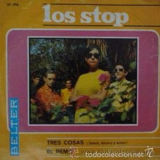 Discos de vinilo: LOS STOP - TRES COSAS / EL REMO / SINGLE BELTER DE 1967 RF-703. Lote 56865627