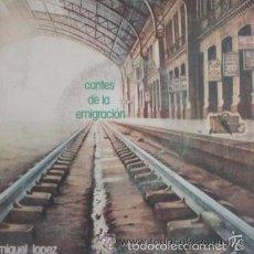 Discos de vinilo: MIGUEL LOPEZ - CANTES DE LA EMIGRACION / NO QUIERO CANTAR , NANA AL NIÑO EMIGRANTE / SINGLE DE 1977. Lote 56866411