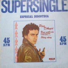 Discos de vinilo: PINO D'ANGIO - UNA NOTTE DE IMPAZZIRE - OKAY OKAY - MAXI SINGLE RCA 1981 - ITALO DANCE. Lote 56877461