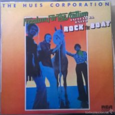 Discos de vinilo: THE HUES CORPORATION-FREEDOM FOR THE STALLION, RCA VICTOR-APL1-0323. Lote 172042754