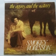 Discos de vinilo: SMOKEY ROBINSON (THE MIRACLES) - THE AGONY AND THE ECSTASY / WEDDING SONG (1976). Lote 56878832