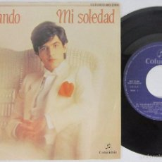 Dischi in vinile: ARMANDO - MI SOLEDAD + DE NUEVO TU - SINGLE - COLUMBIA 1983 SPAIN - N MINT. Lote 56879130