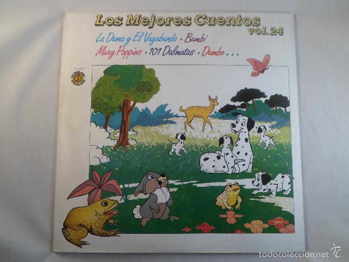 LP LOS MEJORES CUENTOS VOL. 24 LA DAMA Y EL VAGABUNDO, BAMBI, MARY POPPINS... (Música - Discos - LPs Vinilo - Música Infantil)
