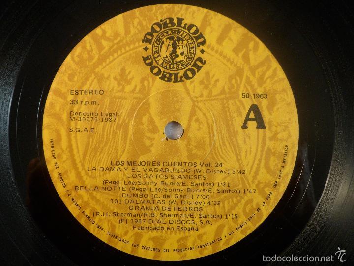 Discos de vinilo: LP LOS MEJORES CUENTOS VOL. 24 LA DAMA Y EL VAGABUNDO, BAMBI, MARY POPPINS... - Foto 3 - 56888093