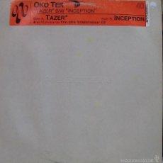 Discos de vinilo: OKO TEK-TAZER + INCEPTION MAXI SINGLE VINILO 2001. Lote 56888276