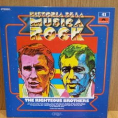 Discos de vinilo: THE RIGHTEOUS BROTHERS. HISTORIA DE LA MÚSICA ROCK. Nº 41 / CALIDAD LUJO.****/****. Lote 56891627