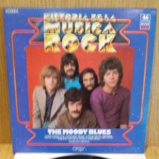 Discos de vinilo: THE MOODY BLUES. HISTORIA DE LA MÚSICA ROCK, Nº 46 / CALIDAD LUJO. ****/****. Lote 56893042