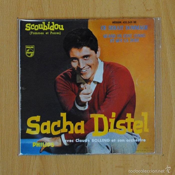 SACHA DISTEL - SCOUBIDOU + 3 - EP (Música - Discos de Vinilo - EPs - Canción Francesa e Italiana)