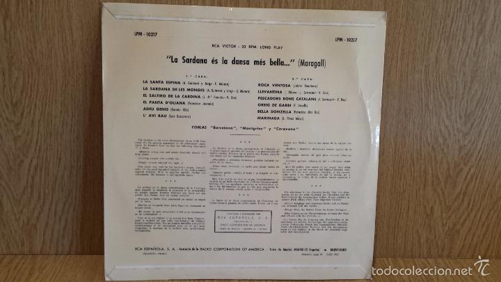 Discos de vinilo: LA SARDANA ES LA DANZA MÁS BELLA...COBLAS; CARAVANA, MONTGRINS, BARCELONA. LP / BC. ***/*** - Foto 2 - 56899755