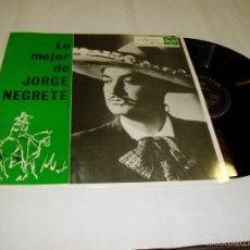 Discos de vinilo: LP LO MEJOR DE JORGE NEGRETE 1962. Lote 56900037
