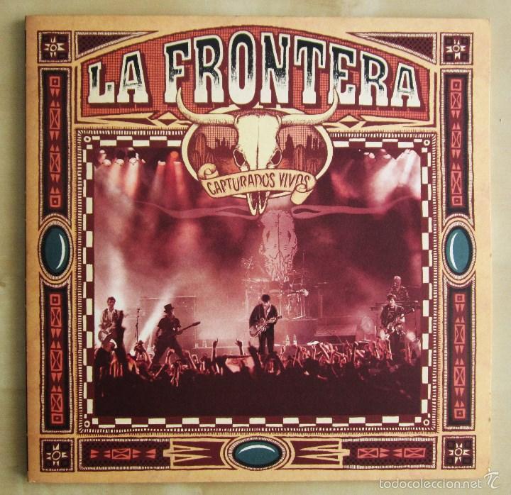 Discos de vinilo: LA FRONTERA - CAPTURADOS VIVOS - ALBUM DOBLE EN VINILO ORIGINAL PRIMERA EDICION POLYGRAM 1992 - Foto 2 - 56907453