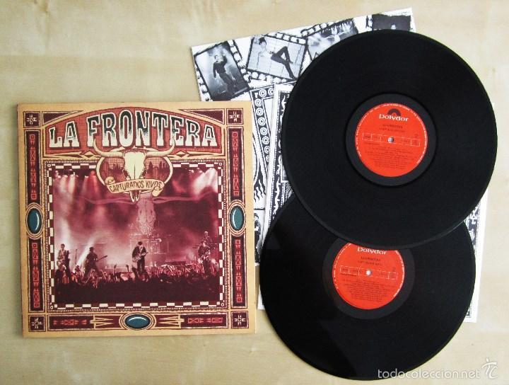 Discos de vinilo: LA FRONTERA - CAPTURADOS VIVOS - ALBUM DOBLE EN VINILO ORIGINAL PRIMERA EDICION POLYGRAM 1992 - Foto 6 - 56907453