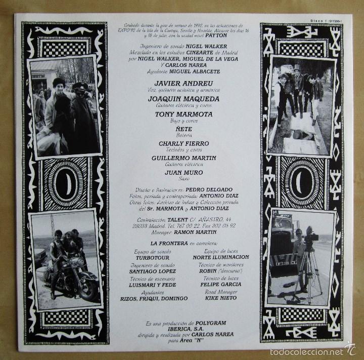 Discos de vinilo: LA FRONTERA - CAPTURADOS VIVOS - ALBUM DOBLE EN VINILO ORIGINAL PRIMERA EDICION POLYGRAM 1992 - Foto 8 - 56907453