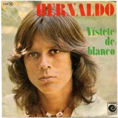 Discos de vinilo: HERNALDO (JUAN CARLOS CALDERÓN) – VÍSTETE DE BLANCO - SG SIDED PROMO SPAIN 1977 - NOVOLA P-54. Lote 56908635
