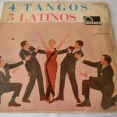 Discos de vinilo: LOS 5 LATINOS - 4 TANGOS - SILENCIO/ EL DIA QUE ME QUIERAS + 2 - EP 1962. Lote 56910529