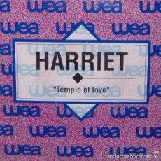 Discos de vinilo: HARRIET - TEMPLE OF LOVE / SINGLE WEA RECORDS DE 1991 ,RF-753, BUEN ESTADO. Lote 56912264