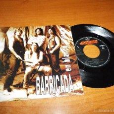 Discos de vinilo: BARRICADA EN BLANCO Y NEGRO SINGLE VINILO PROMO 1991 ROCK ESPAÑOL EL DROGAS MISMO TEMA. Lote 234281260