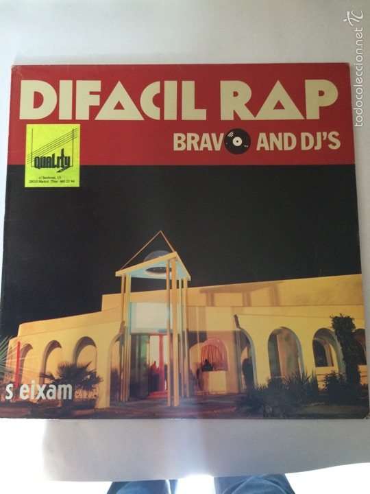 DIFACIL RAP-BRAVO AND DJ'S (Música - Discos de Vinilo - Maxi Singles - Rap / Hip Hop)