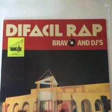 Discos de vinilo: DIFACIL RAP-BRAVO AND DJ'S. Lote 108960636