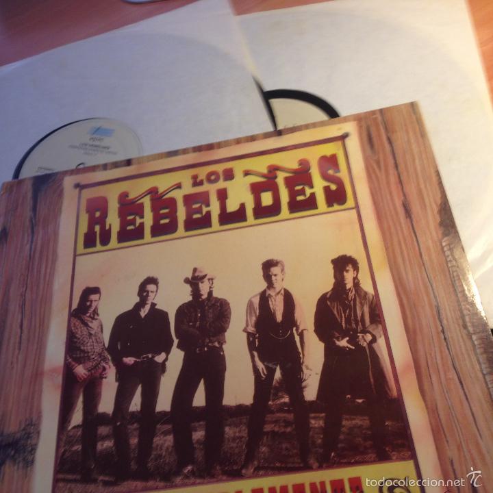 LOS REBELDES (PREFERIBLEMENTE VIVOS) 2 LP ESPAÑA 1990 (VINA) (Música - Discos - LP Vinilo - Grupos Españoles de los 90 a la actualidad)