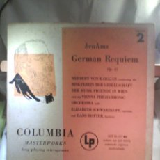 Discos de vinilo: DISCO DE VINILO BRAHMS - GERMAN REQUIEM VOLUME 2 [MONO. MADE IN USA. 1949]. Lote 56929418