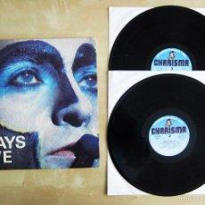 Discos de vinilo: PETER GABRIEL - PLAYS LIVE - ALBUM DOBLE VINILO ORIGINAL PRIMERA EDICION CHARISMA RECORDS 1983. Lote 56936315