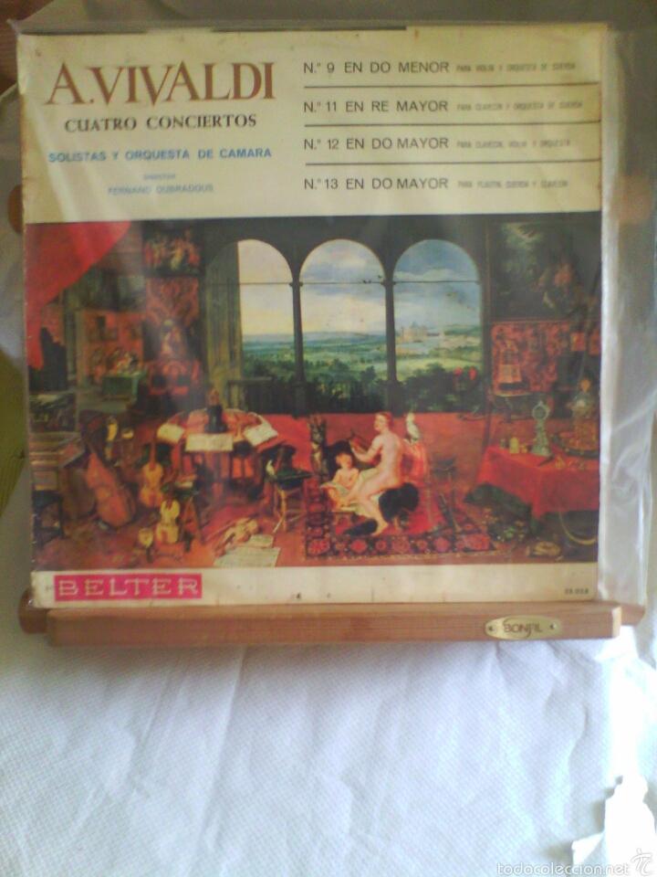 DISCO DE VINILO A. VIVALDI - CUATRO CONCIERTOS (EDICIÓN ESPAÑOLA, 1966) (Música - Discos - LP Vinilo - Clásica, Ópera, Zarzuela y Marchas)