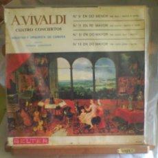 Discos de vinilo: DISCO DE VINILO A. VIVALDI - CUATRO CONCIERTOS (EDICIÓN ESPAÑOLA, 1966). Lote 56943183